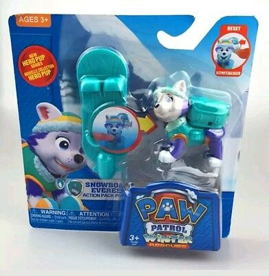 Paw Patrol Figure Toy Everest Ski Snowboard Kids Pup Action Pack Gift Winter New