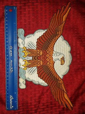 Large Vintage Eagle Embroidered Patch