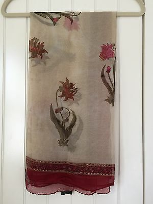 Liberty Silk Scarf Vintage Style Floral