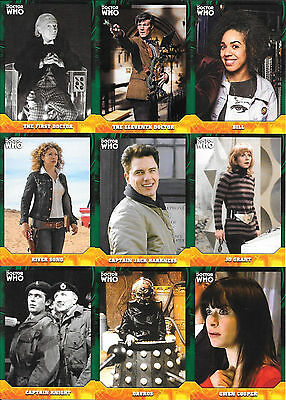 Doctor Who Signature Series 16 Green Parallel  Lot (No Duplicates)