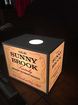 Vintage Old Sunny Brook Kentucky Whiskey Flashing Bar Light