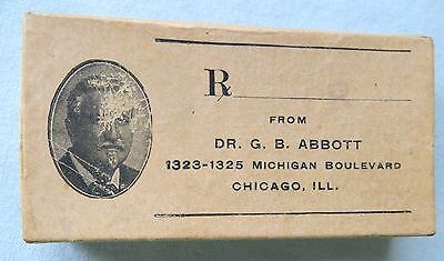 Vintage Early 1900s Druggist Dr. G.B. Abbott Chicago IL Prescription Apothecary