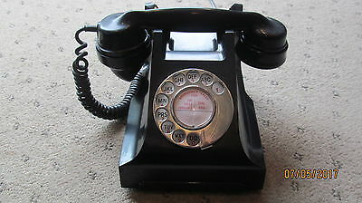 Original  Vintage 332L  Black Bakelite Dial Telephone [Converted]Lovely Phone]