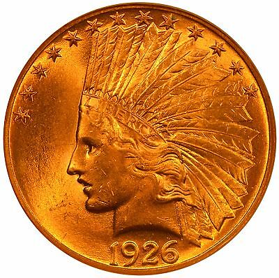 1926 $10 Indian Head Gold Eagle NGC MS64