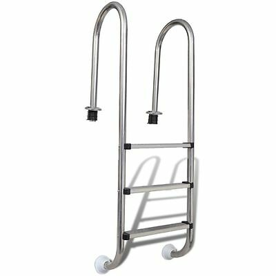 In-Pool Steel Ladder Three Steps Concrete Swimming Pools Home Garden Or Spa New