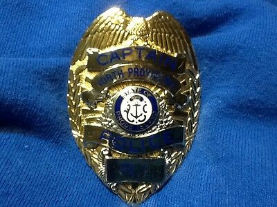 Obsolete North Providence Rhode Island Police Badge Blackinton