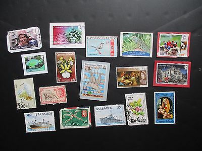 CARIBBEAN COUNTRIES - CAYMAN ISLANDS and BARBADOS POSTAGE STAMPS mint and used