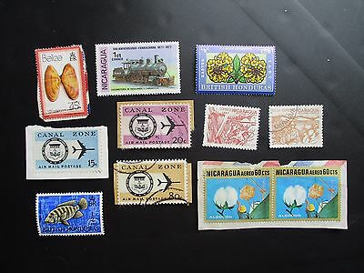 CENTRAL AMERICAN various COUNTRIES - POSTAGE STAMPS mint & used; on & off paper