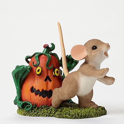Charming Tails Figurine*PUMPKIN ZOMBIE with MOUSE*New 2015*NIB*Halloween*4046779