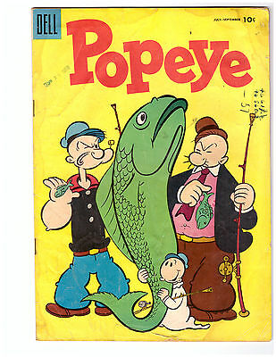 POPEYE # 33 in VG condition a DELL 1953 comic