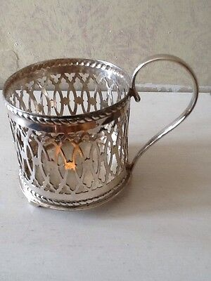 Vintage Individual Silver Plated Glass Holder