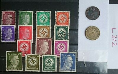 German Ww2 Stamps / Coins /original, 1939 /45