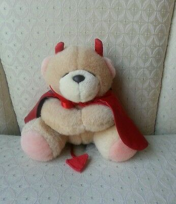 Vintage Forever Friends Andrew Brownsword UK Mini Valentine's Plush Devil Bear