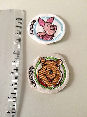 2 little Winnie the Pooh embroidered patches