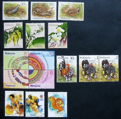 Malaysia 2001: Five Issues (all mint)