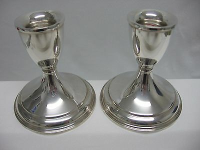 Vintage Pair Preisner #33 STERLING SILVER Weighted Candlesticks Holders Save Pet