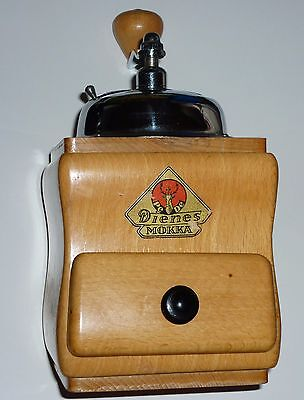 Coffee Mill Grinder PeDe Dienes Mokka Vintage Beach Wood Forged steel Germany
