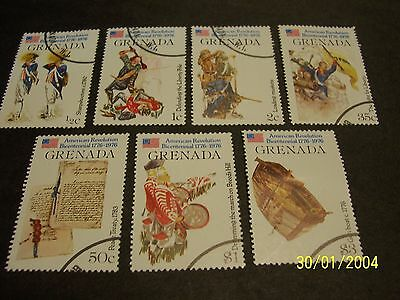 Grenada 1976 American Bicentennial Issue CTO-OG complete set of 7, F-VF!