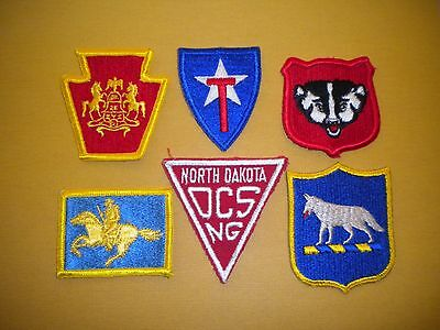 National Guard State Headquarters Patch Lot