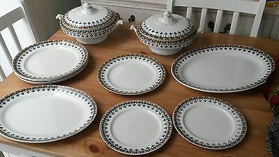 large collection of vintage china dinner service terines ,plates etc