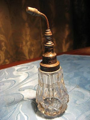 Antique Cut Glass & Sterling Silver Atomizer Perfume Bottle Fearearyear English