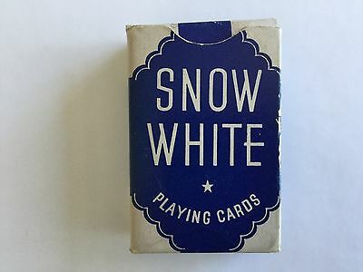 Vintage Snow White Miniature Playing Cars (52 cards in original box)