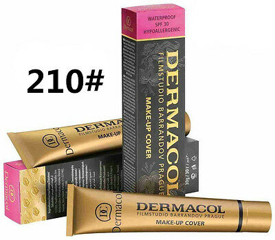 210# New Dermacol Film Studio High Covering Make Up Foundation Hypoallergenic