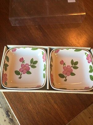 Franciscan Desert Rose Set of 2 Dipping Bowls NIB