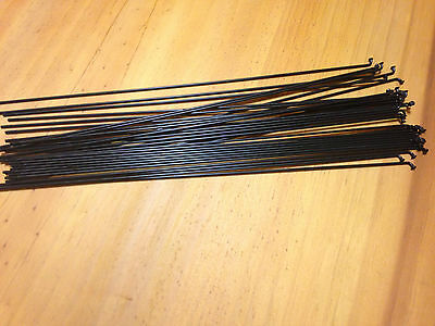 Bicycle Spokes 260mm Black Stainless Steel 14g x 36