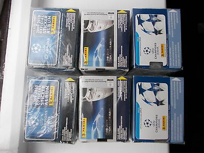 football stickers panini champions league x 6 factory sealed boxes