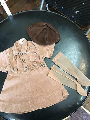 1950's Brownie Doll Dress Felt Beanie Hat & Hoes For Terri Lee Doll