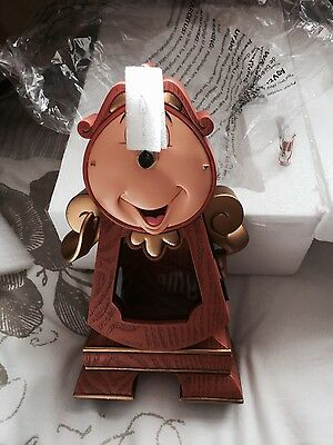 Disney parks ornament beauty & the beast working cogsworth clock SOLD OUT