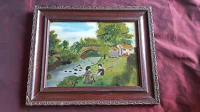 Late19th Century / Early 20th Naive Reverse Glass Painting
