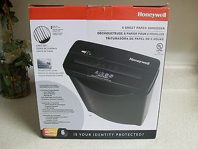 Honeywell 9306 Strip Cut Paper Shredder 6 Sheet Credit Card Black NEW