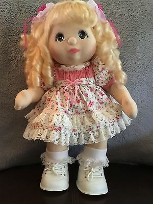 Mattel My Child Doll Euro  Ringlet Blonde hair with brown/green eyes