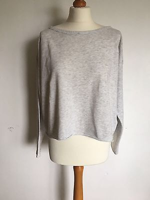 H&M Grey Marl Jumper Long Sleeves. Size Small S.