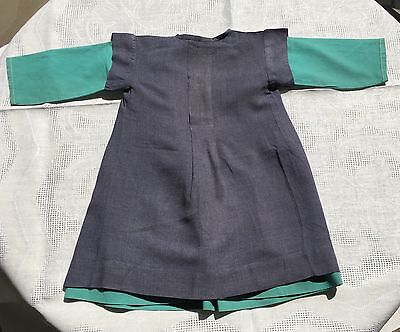 Authentic Antique  Cotton  Child's Amish  Dress and Apron Lancaster Co PA