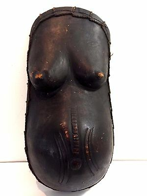 Vintage MAKONDE Pregnant Belly Mask African Art Wood