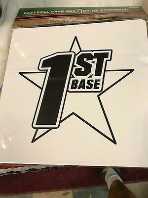 Baseball Base Set 3 Bases + Home Plate New In Pack