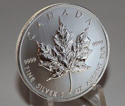 2013 Canada Silver Maple Leaf  1 OZ SILVER  COIN