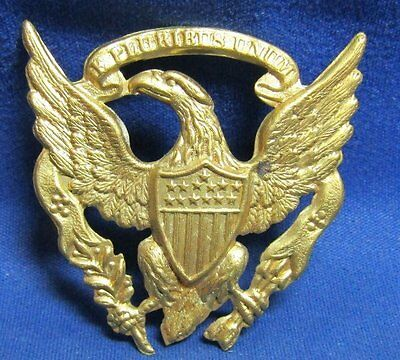 Civil War Army Infantry Hat Badge SEW ON STYLE
