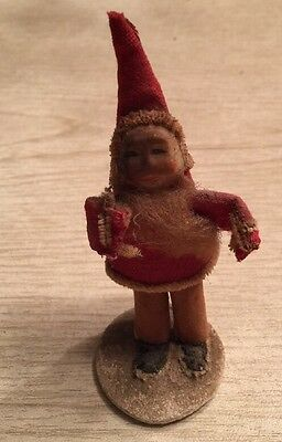 antique paper santa from 5 and dime store