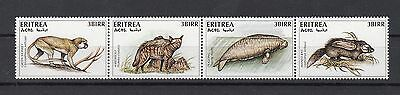 Eritrea, Complete strip of 4 topical stamps, Wild animals