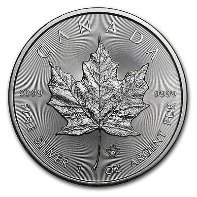 2017 Canada 9999 Silver Maple Leaf  1 OZ SILVER  COIN