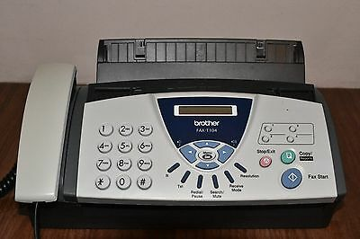 Brother FAX-T104 fax machine/telephone in perfect working order with new leads..