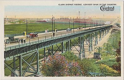 Clark Avenue Bridge Cleveland Fifth City Vintage Postcard Curteich