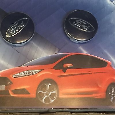 New Ford Fiesta/Focus/Mondeo Alloy Wheel Centre Caps 54Mm Blue Or Silver X 4