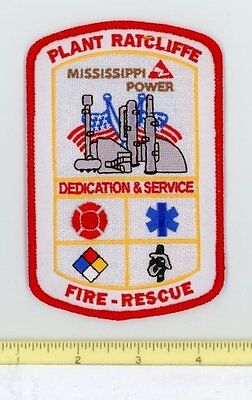 PLANT RATCLIFFE FIRE RESCUE MISSISSIPPI POWER COMPANY Fire DPS Patch HAZMAT