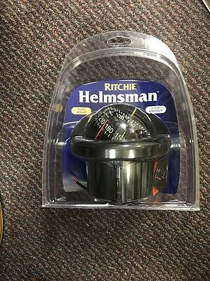 NEW RITCHIE HF-743 Helmsman Combidial Compass - Flush Mount - Black