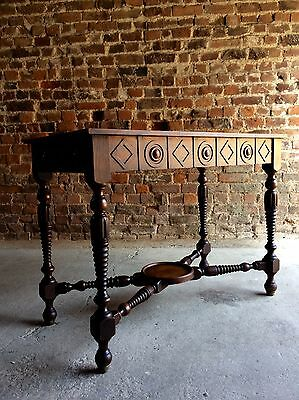 Beautiful Antique Style Hall Table Oak Side Table